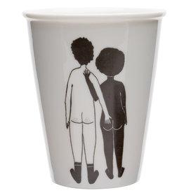 helen b Tasse imprimée - White man & Black woman
