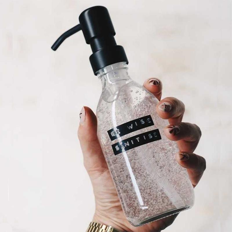 Wellmark Handgel 250ml zwart - 'Be Wise Sanitize'