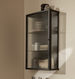 Fermliving Haze wall cabinet - Reeded glass