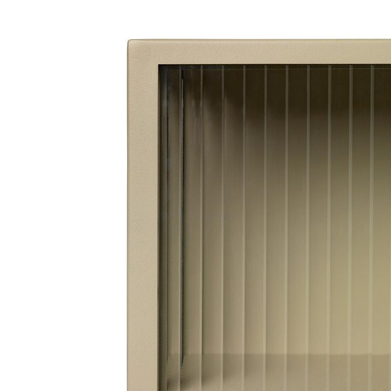 Fermliving Haze wandkast - figuurglas met streeppatroon
