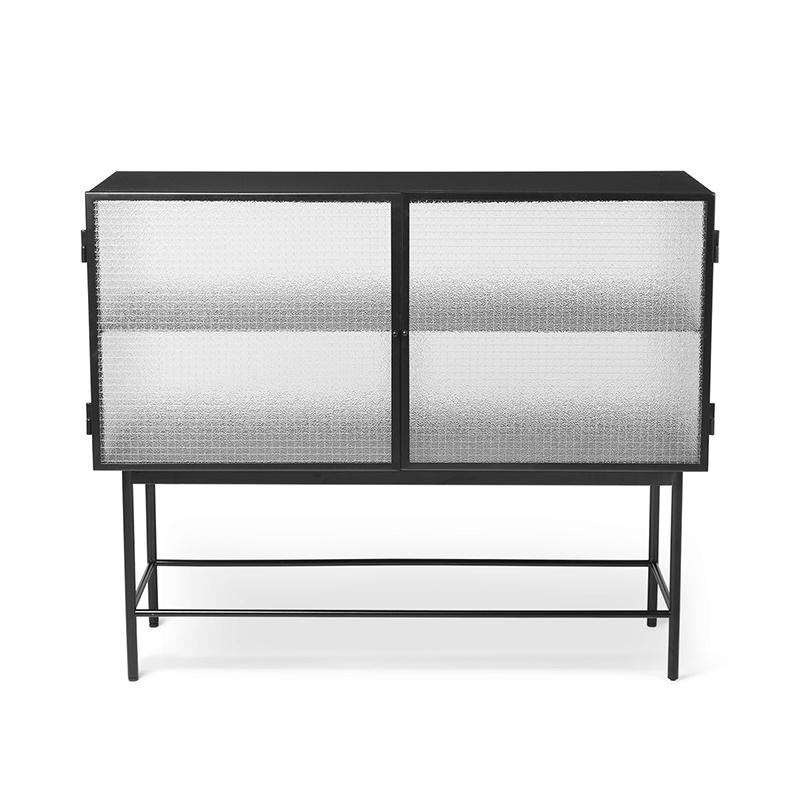 Fermliving Haze sideboard dressoir - wired glass