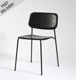 HAY Soft edge 10 FAST TRACK cadre noir avec assise en chêne teinté noir - HAY
