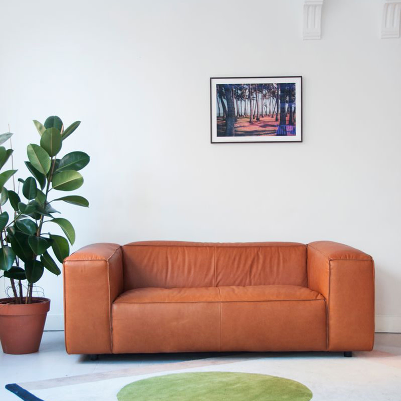Fest Amsterdam Dunbar sofa - 2 seat - Leather da Silva 15006 Terracotta