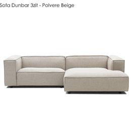 Fest Amsterdam Dunbar sofa 1.5-seater + divan / Polvere -21 beige (fast delivery)