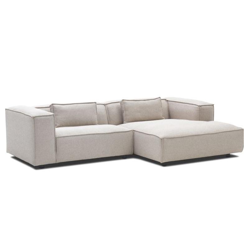 Fest Amsterdam Dunbar sofa 1.5 seater arm L + divan arm R  / Polvere - 21 beige (fast delivery)