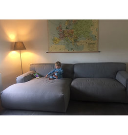 Fest Amsterdam Clay sofa avec longchair large - Sydney light grey