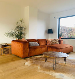 Fest Amsterdam Dunbar sofa - divan arm + 1.5 seater - Juke copper