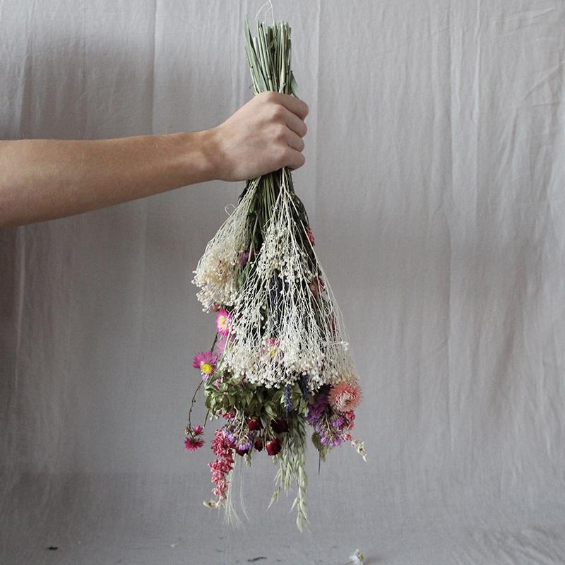 Noviflora Droogboeket wildflowers 'Pink' - Medium