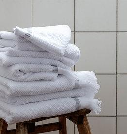 Meraki Serviette blanc/gris