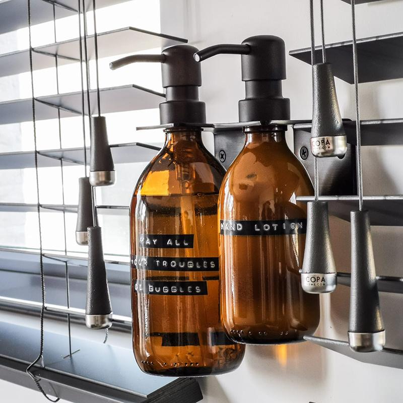 Wellmark Liquide vaiselle en verre - messing