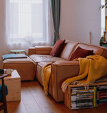 Fest Amsterdam Edge sofa 3-seater met pouf - naturala 8002 sand