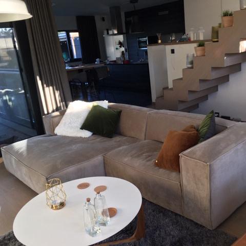 Fest Amsterdam Dunbar sofa 1.5 seat + divan - Juke 51 khaki