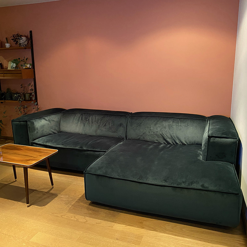 Fest Amsterdam Dunbar Sofa 1.5 seat + divan - Juke 162 forest
