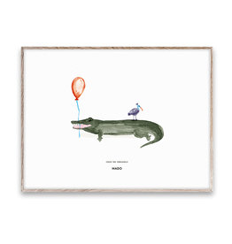 Paper Collective Coco the Crocodile Poster 30x40