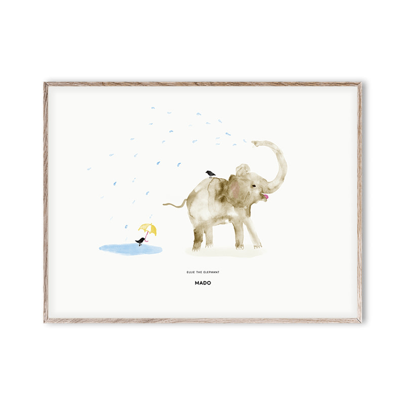 Paper Collective Ellie the Elephant Poster 30x40