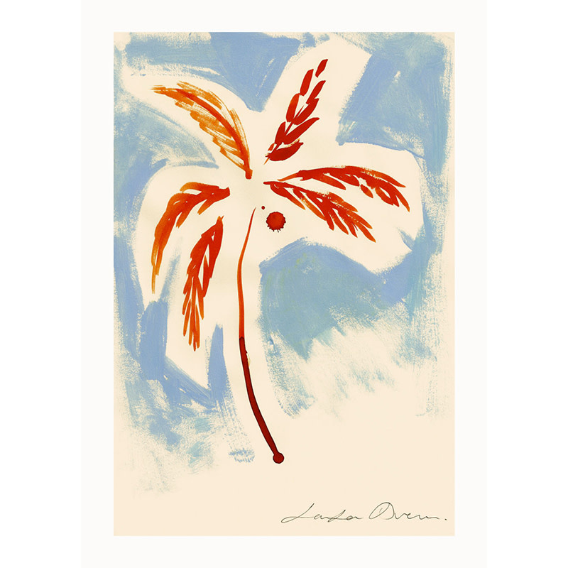 Paper Collective Stormy Palm Affiche 30x40