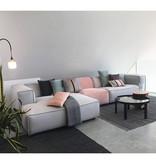 Fest Amsterdam Dunbar sofa met extra zitelement - Board 167 zinc + cord 61 powder