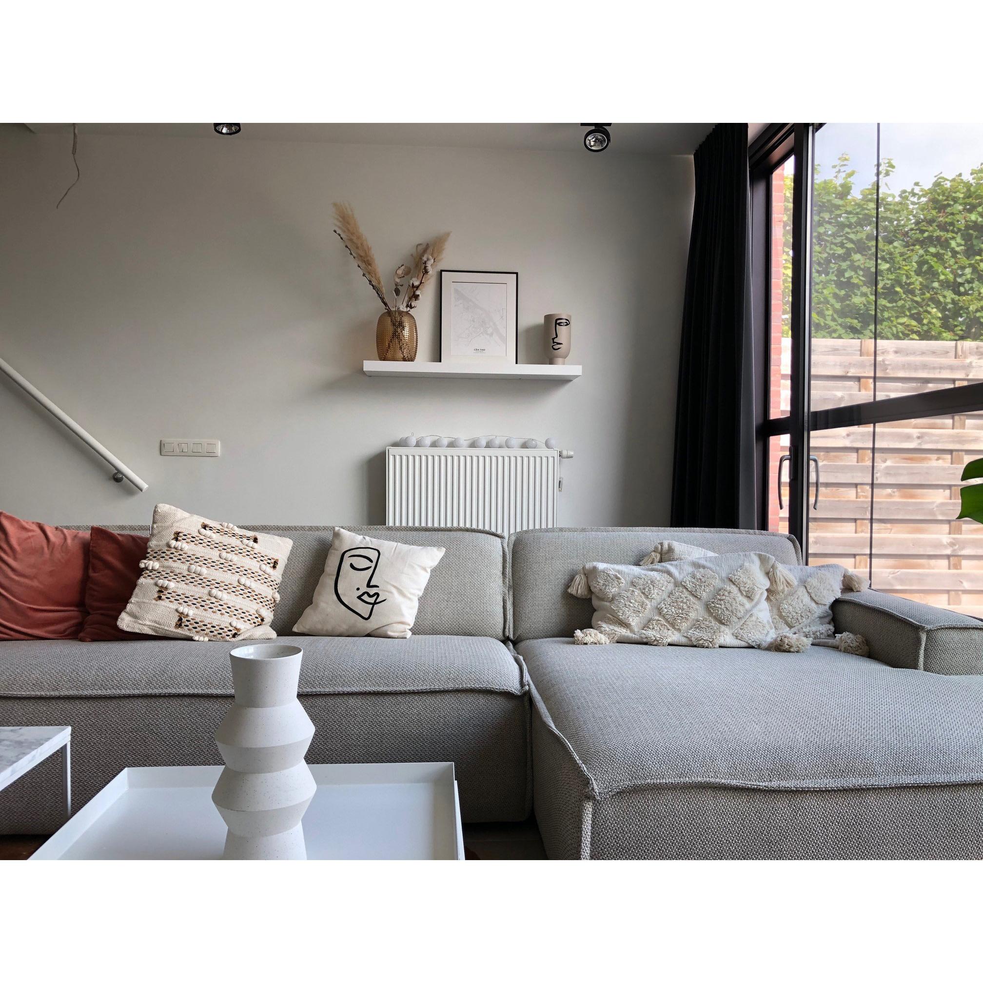 Fest Amsterdam Edge sofa 2 seat no arm  + divan - polvere 21 beige