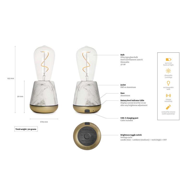 Humble One tafellamp White Marble
