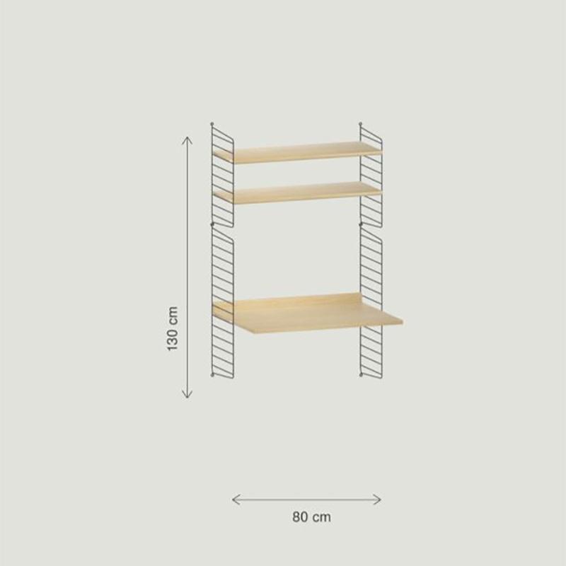 String Wandbureau configuratie 2