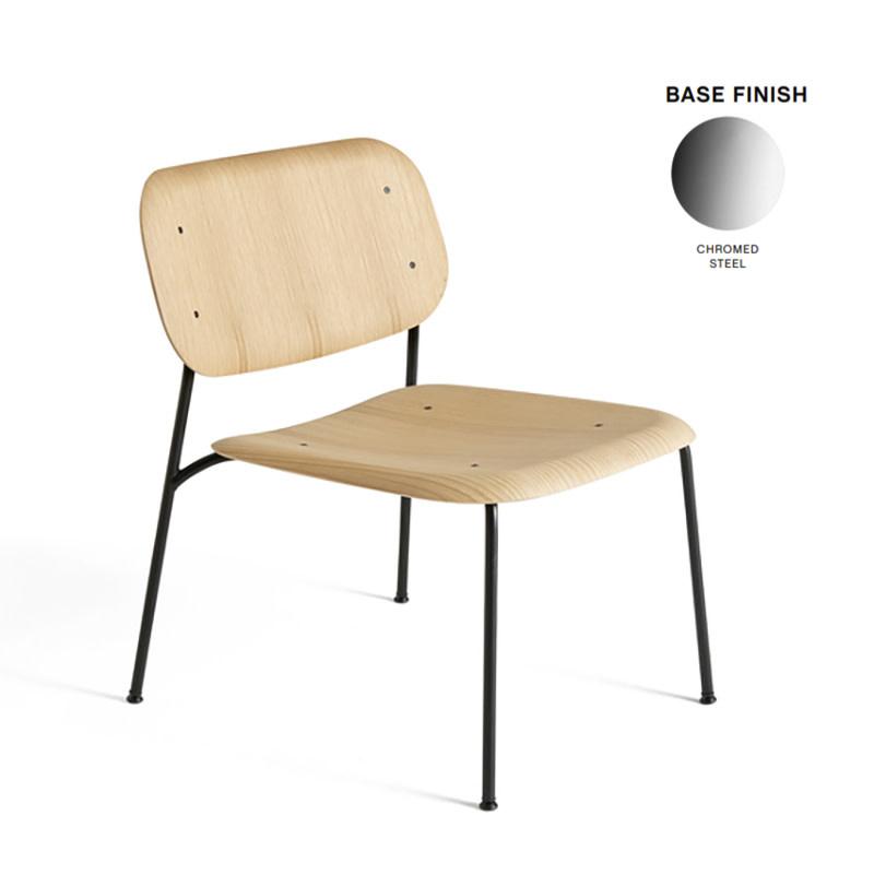 HAY Soft Edge 10 lounge - chromed steel frame