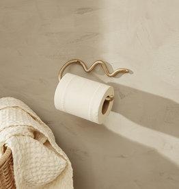 Fermliving Curvature porte-papier toilette brass