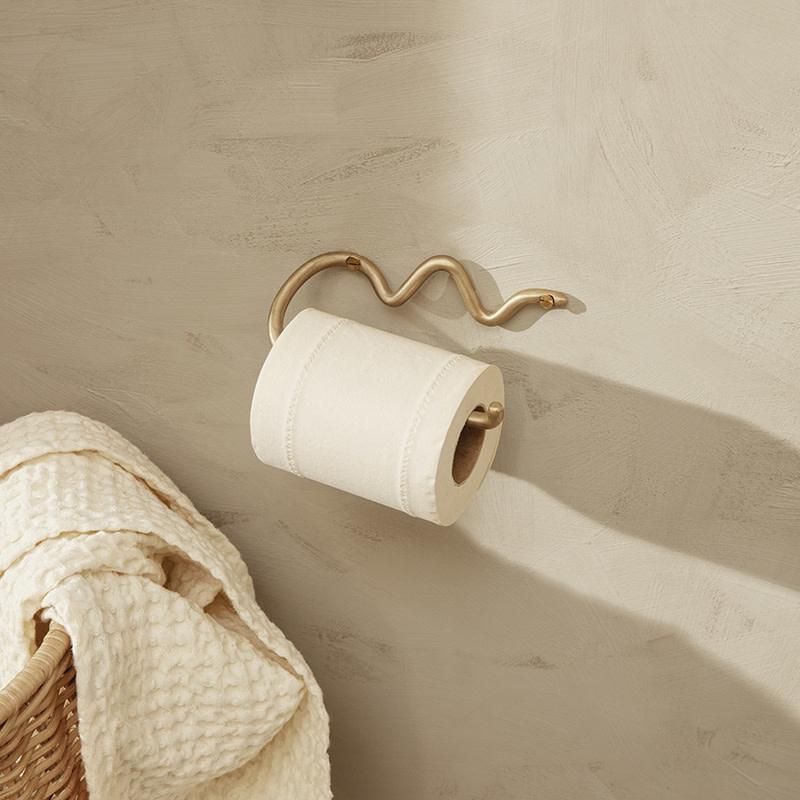 Fermliving Curvature toiletrolhouder brass