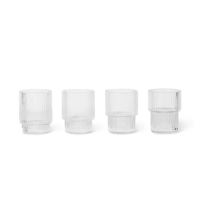 Fermliving Ripple Small Glasses clear (set van 4)