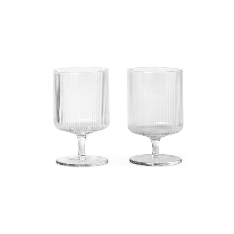 Fermliving Ripple wine glasses clear (set van  2)