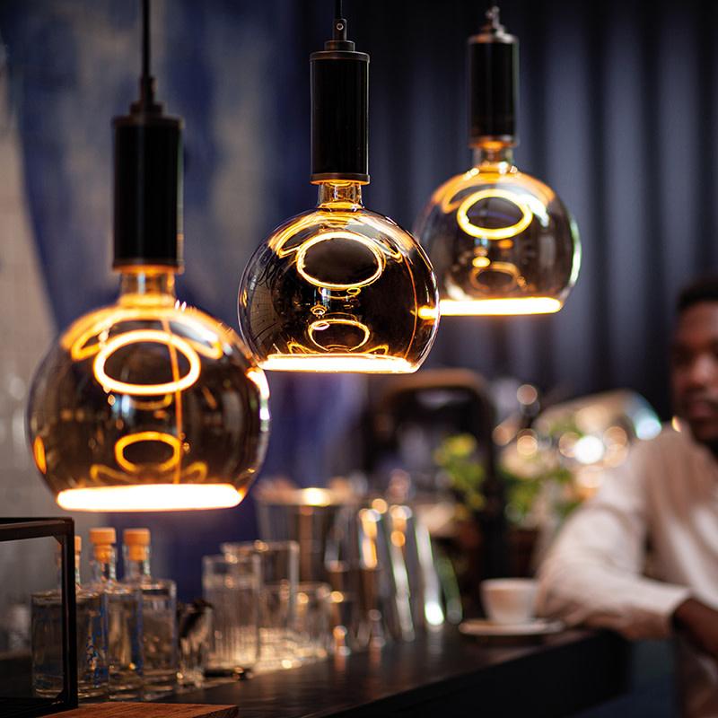 Segula Floating Globe LED - Smokey Grey