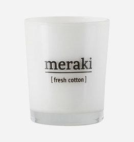 Meraki Bougie parfumée Fresh Cotton Ø 5,5 cm
