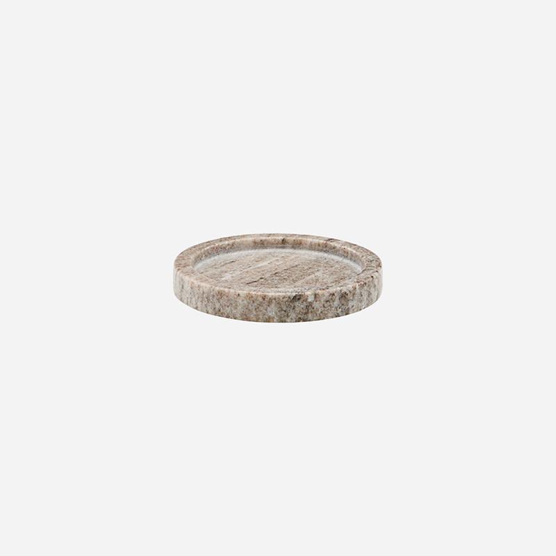 Meraki Dienblad marmer rond small