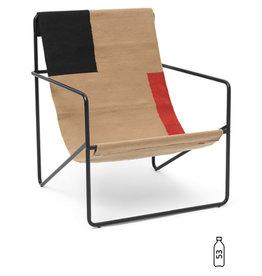 Fermliving Desert Lounge Chair - Black / Block