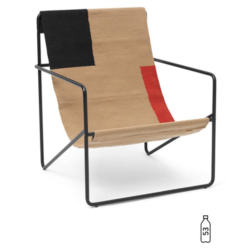 Fermliving Desert Lounge Chair - Frame Black / Block