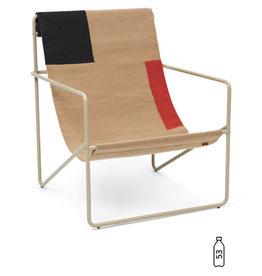 Fermliving Desert Lounge Chair - Cashmere / Block