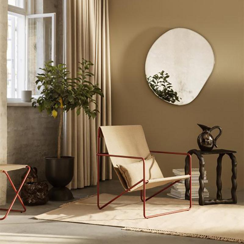Fermliving Desert Lounge Chair - Frame Poppy Red / Sand