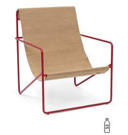 Fermliving Desert Lounge Chair - Poppy Red / Sand