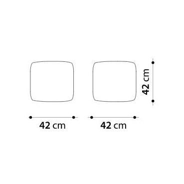 Gart Puffone - Pouf 42x42x42 -Sling