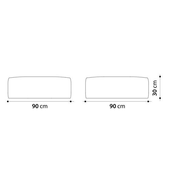 Gart Pouf 90x90x30 - Puffone - Tissu Heritage