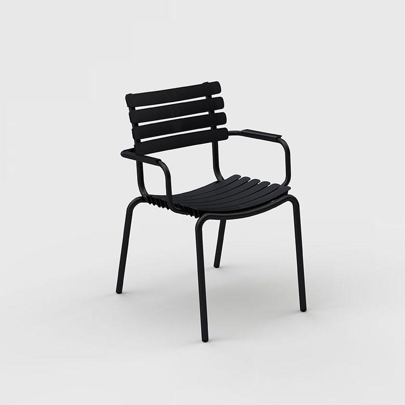 Houe Reclips dining chair - aluminium armleuning