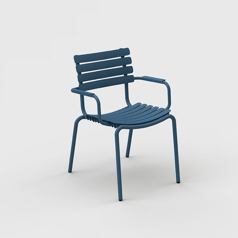 Houe Reclips dining chair - aluminium accoudoir