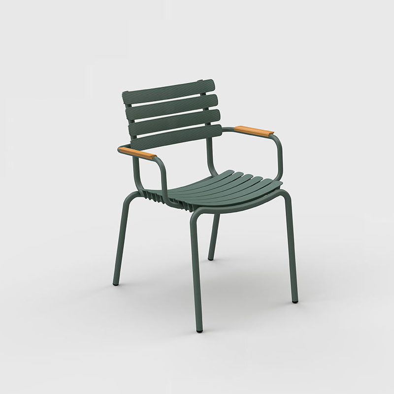 Houe Reclips dining chair - bamboo armleuning