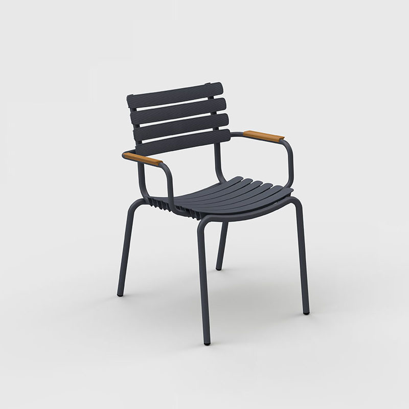 Houe Reclips dining chair - bamboo armrest