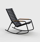 Houe Reclips rocking chair - bamboo accoudoir