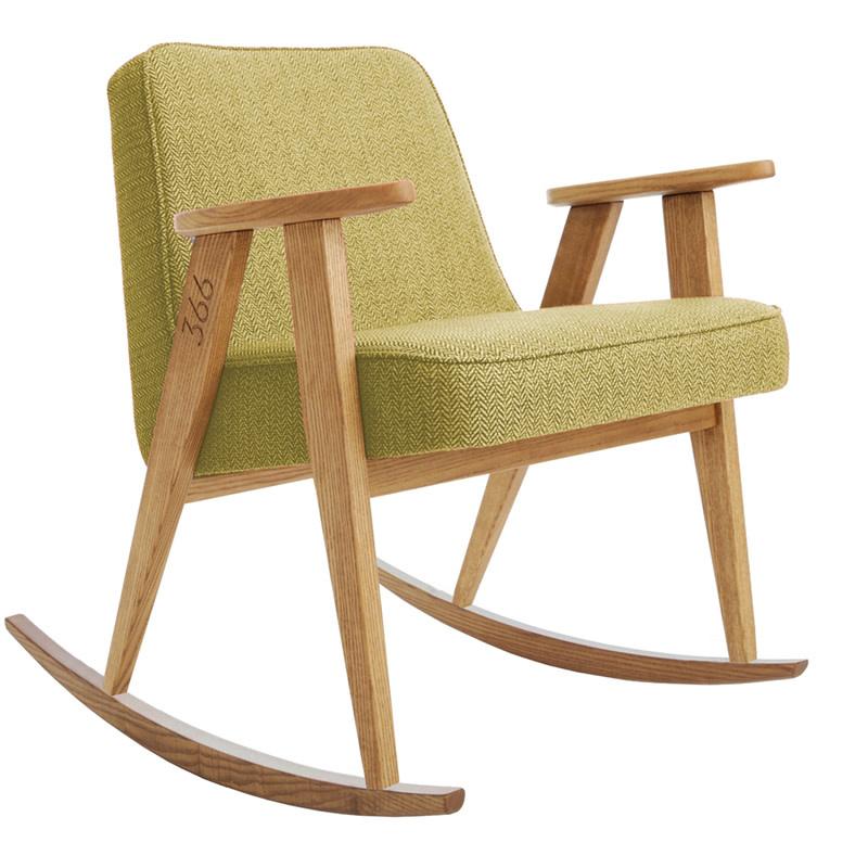 366 Concept 366 Rocking chair Tweed - Sur les photos vous voyez le chêne naturel!