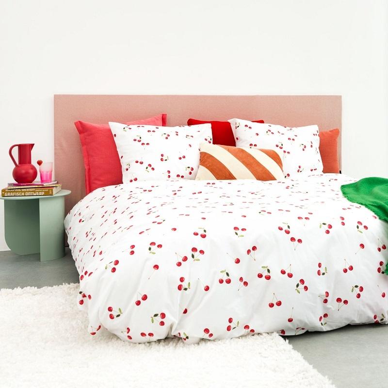 SNURK beddengoed Cherries dekbedovertrek 2p