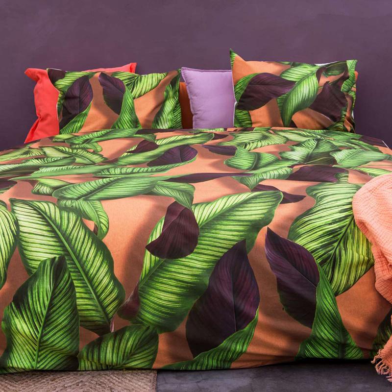 SNURK beddengoed Fresh Leaves dekbedovertrek 2p