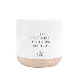 Zusss Bougie parfumée 'Listen to the silence' - céramique