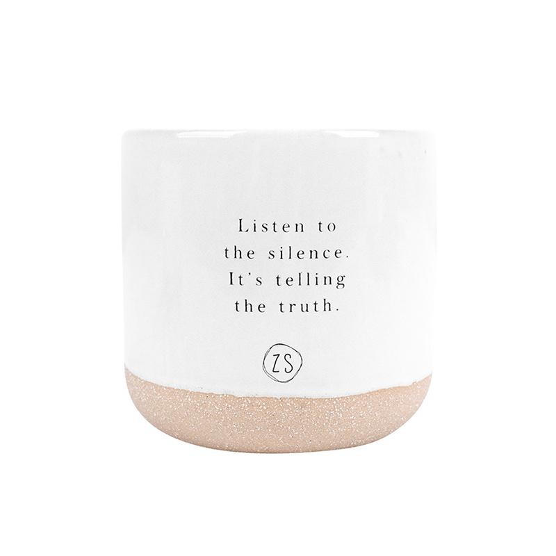 Zusss geurkaars 'Listen to the silence' - keramiek