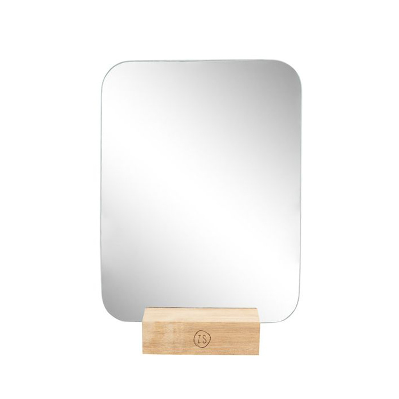 Zusss Spiegel op houten voet 18x23 cm